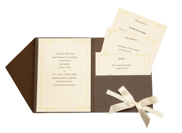 Wilton Wedding Invitation Kits Amazon Wilton Vintage Ivy Pocket Invitation Kit Kitchen