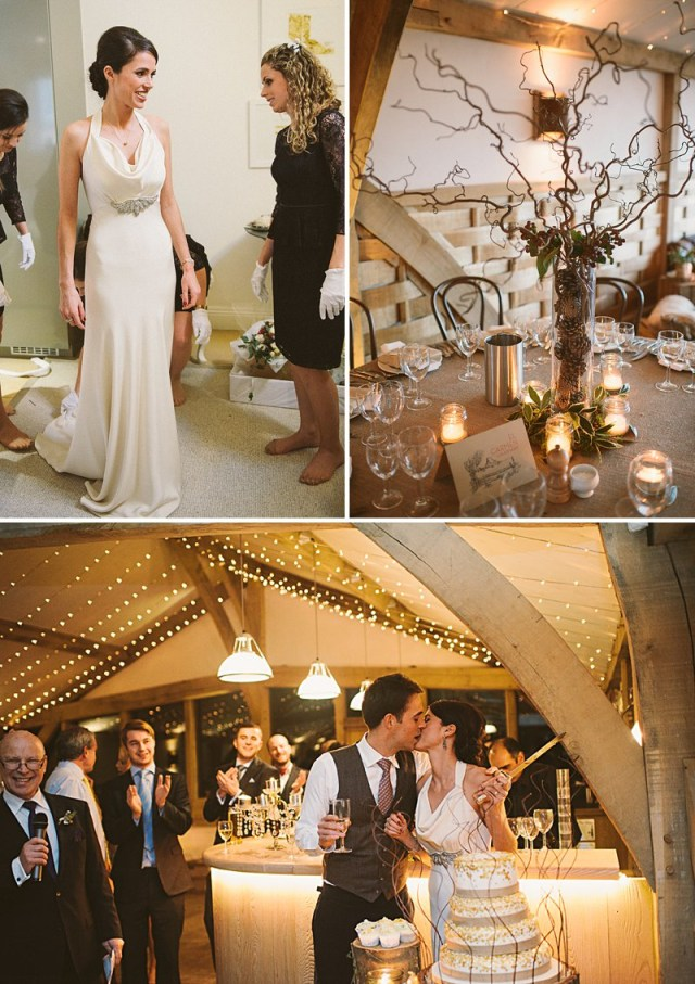 Winter Wedding Decorations A Rustic Winter Wedding At Cripps Barn With Diy Home Made Decor And
