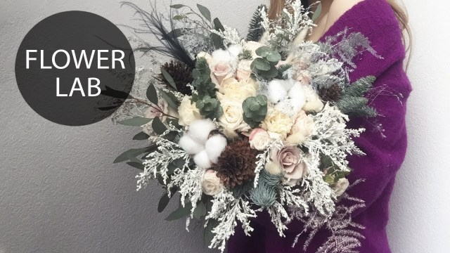 Winter Wedding Diy How To Make A Winter Wedding Bouquet Diy Winter Bouquet Youtube