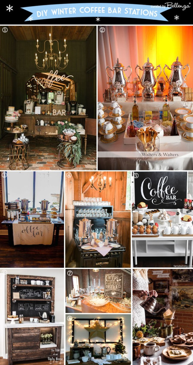 Winter Wedding Diy How To Set Up A Coffee Bar At A Winter Wedding