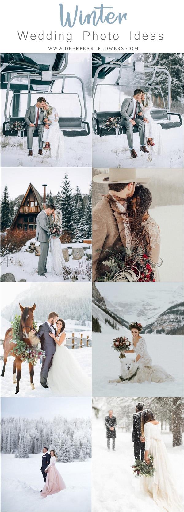 Winter Wedding Ideas 20 Stunning Winter Wedding Photography Ideas Deer Pearl Flowers