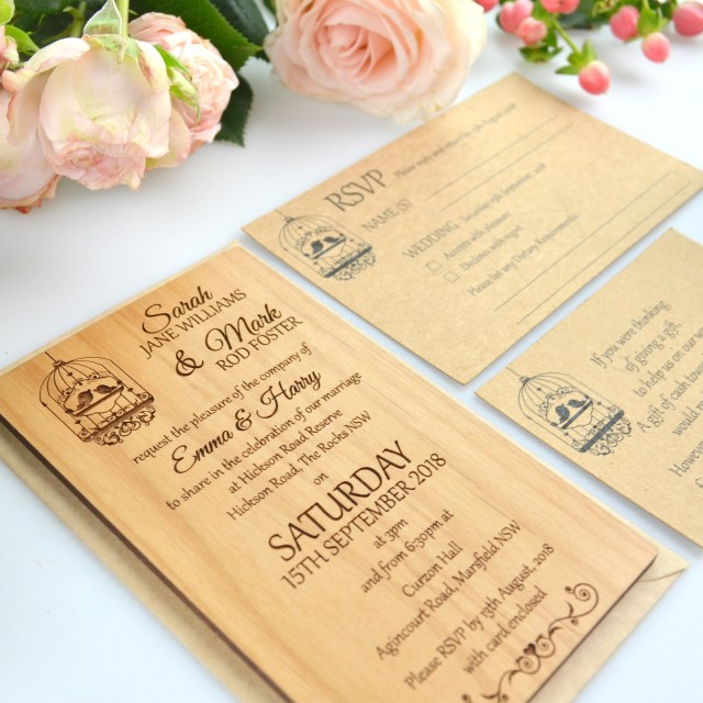Wood Wedding Invitations 11b Size Engraved Wooden Wedding Invitations Wooden Invites Unique