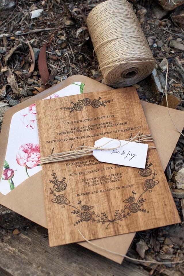 Wood Wedding Invitations Dana Matts Rustic Floral Wood Veneer Wedding Invitaions