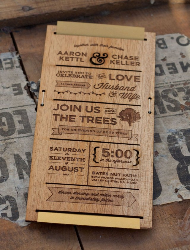 Wood Wedding Invitations Wooden Wedding Invitations Will Give You Extra Ideas To Create Your