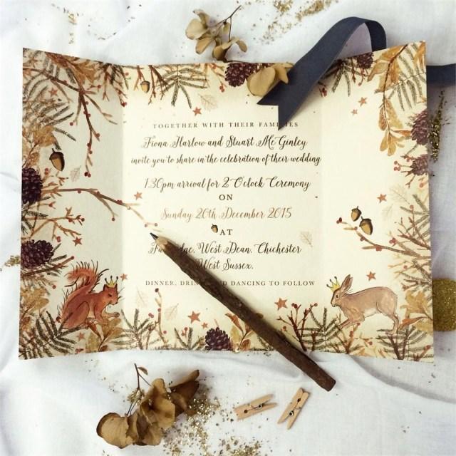 Woodland Wedding Invitations Add Some Wintry Magic To Your Woodland Wedding Invitations With This