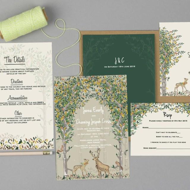 Woodland Wedding Invitations Majestic Woodland Wedding Invitation Set Woodland Wedding