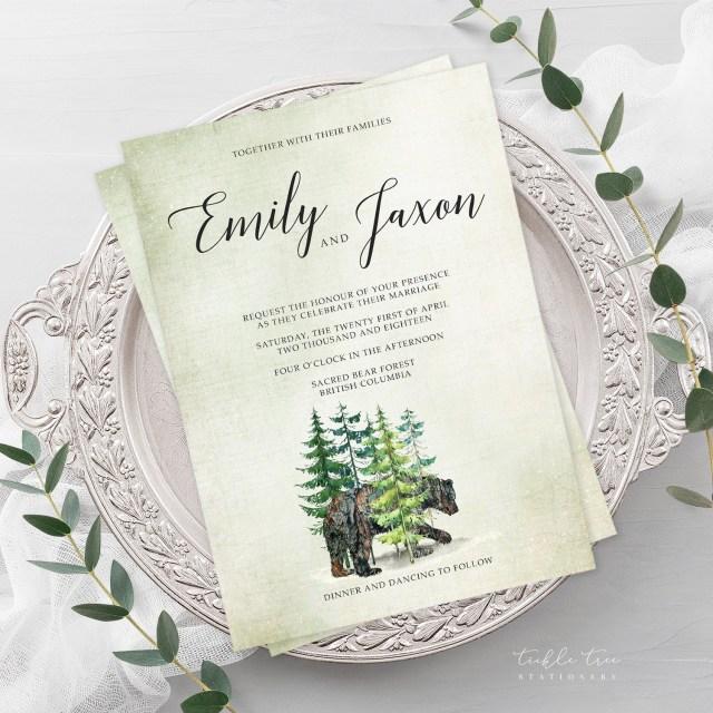 Woodland Wedding Invitations Wedding Invitations Woodland Wedding Style 13768