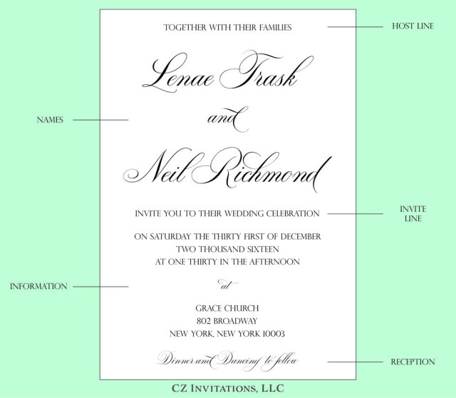 Wording Wedding Invitations How To Wedding Invitation Wording Cz Invitations