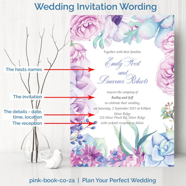 Wording Wedding Invitations Wedding Invitation Wording L Examples Of What To Say In A Wedding Invite