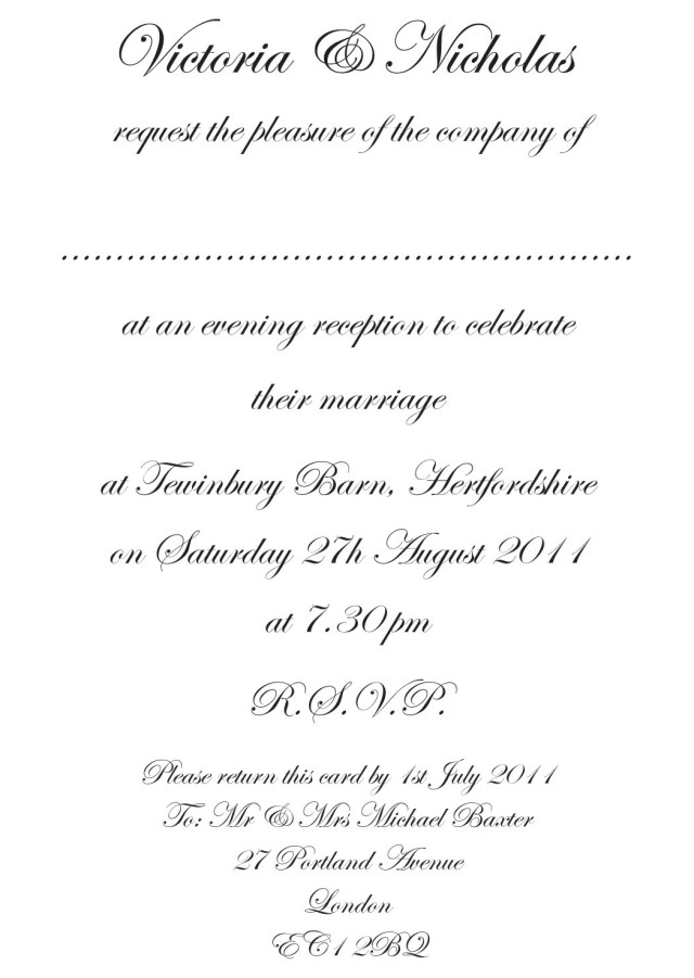 Wording Wedding Invitations Wedding Invitation Wording Templates Marina Gallery Fine Art