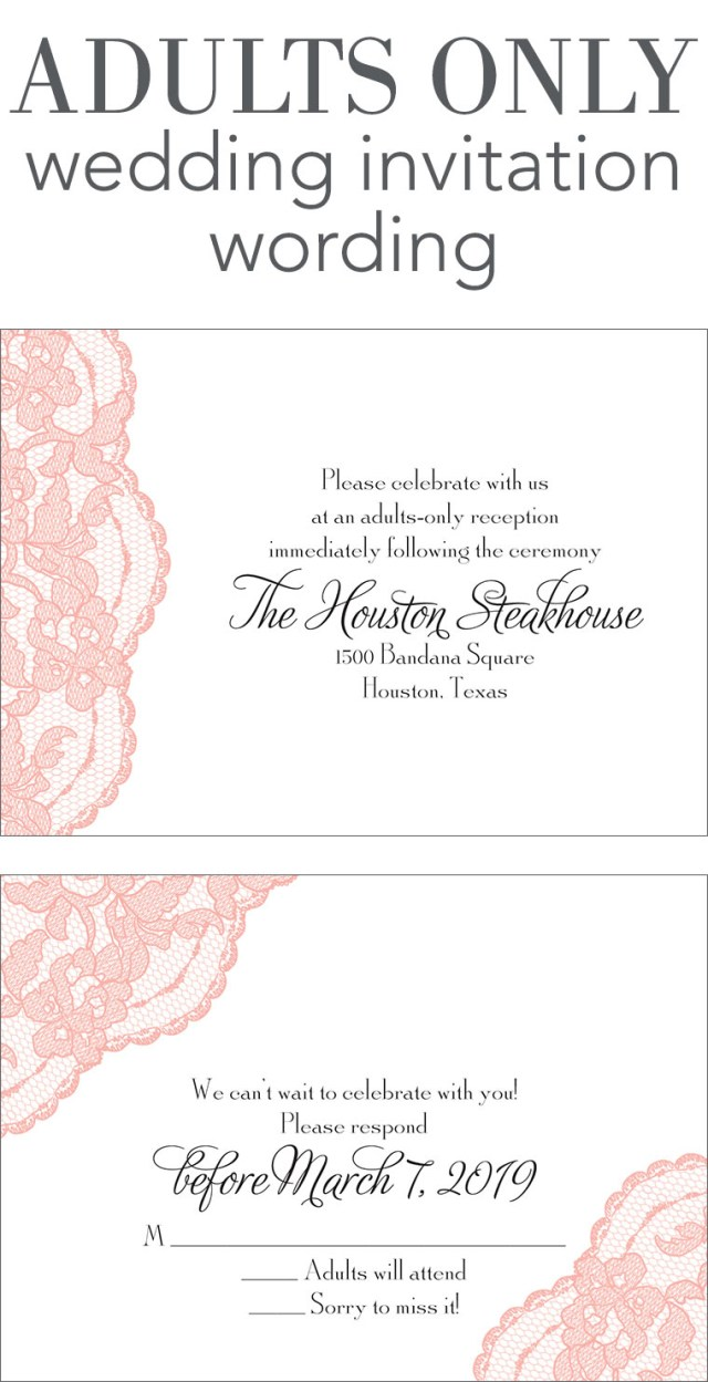 Words To Put On A Wedding Invitation Adults Only Wedding Invitation Wording Invitations Dawn