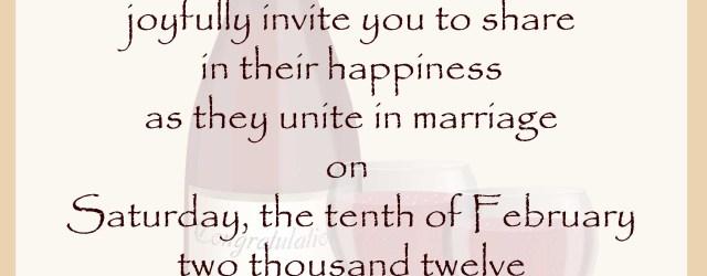 Words To Put On A Wedding Invitation Wedding Invitation Wording Samples 21st Bridal World Wedding