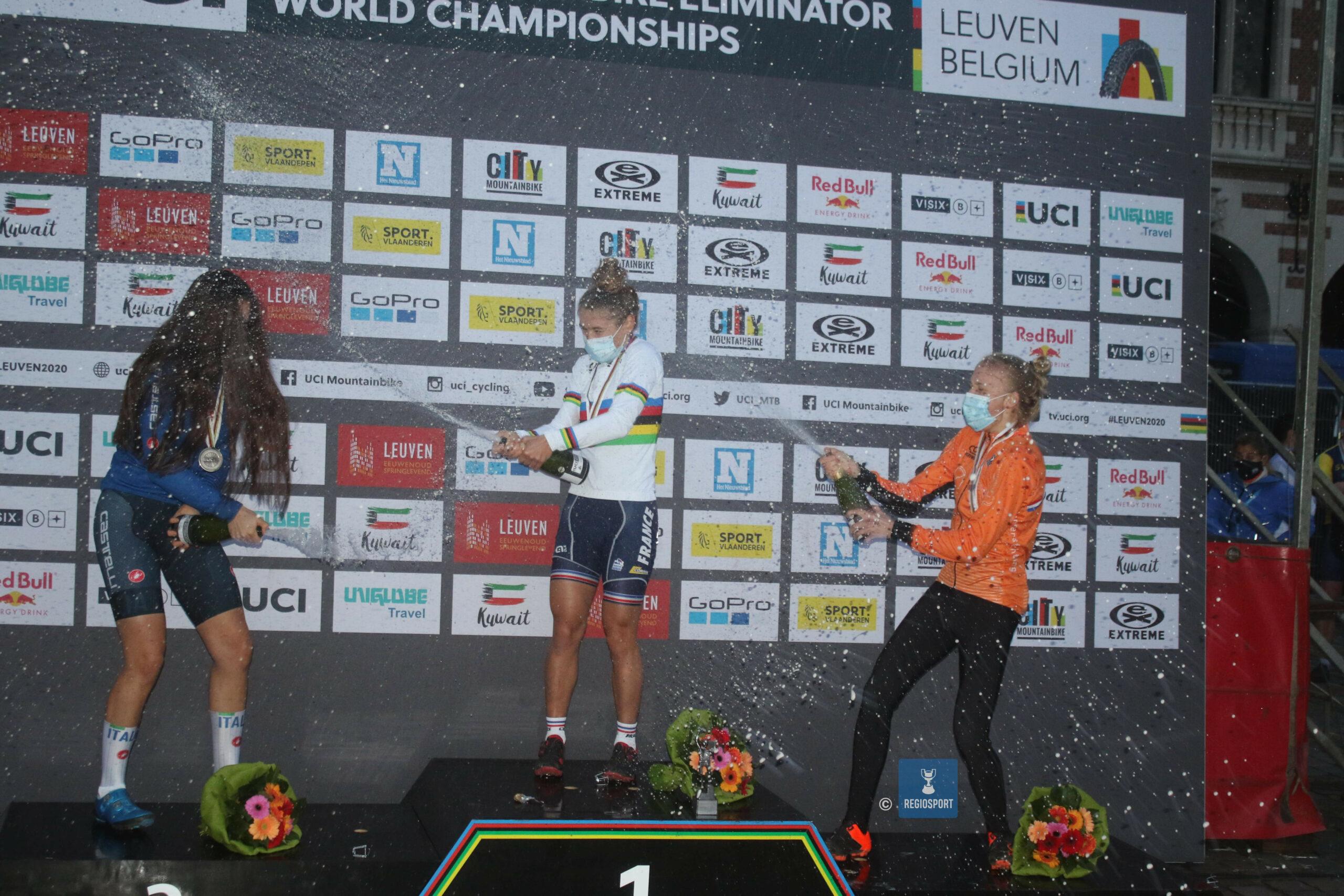 Isaure Medde wereldkampioene mountainbike eliminator na thriller