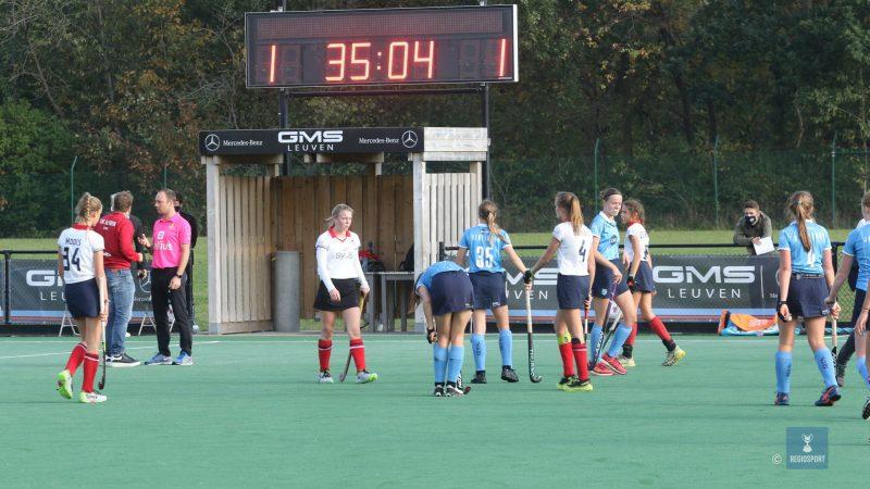 U19 girls KHC Leuven delen de punten en stoten op sterke doelvrouw van Braxgata