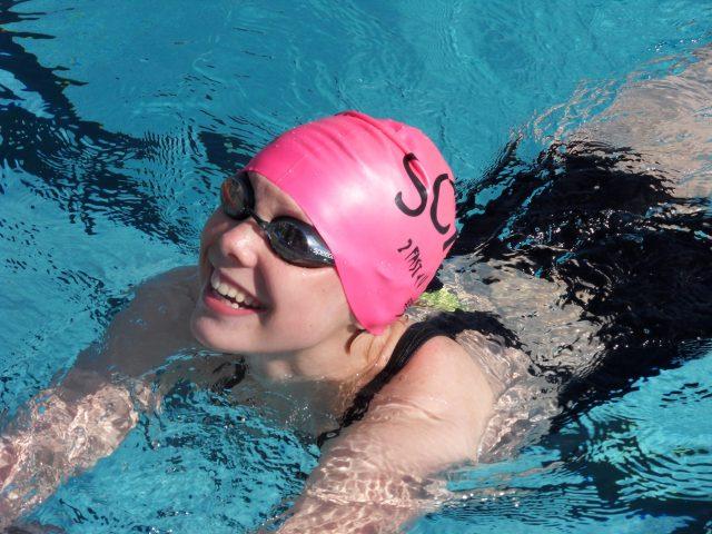 Lenaertz deed even aan competitiezwemmen