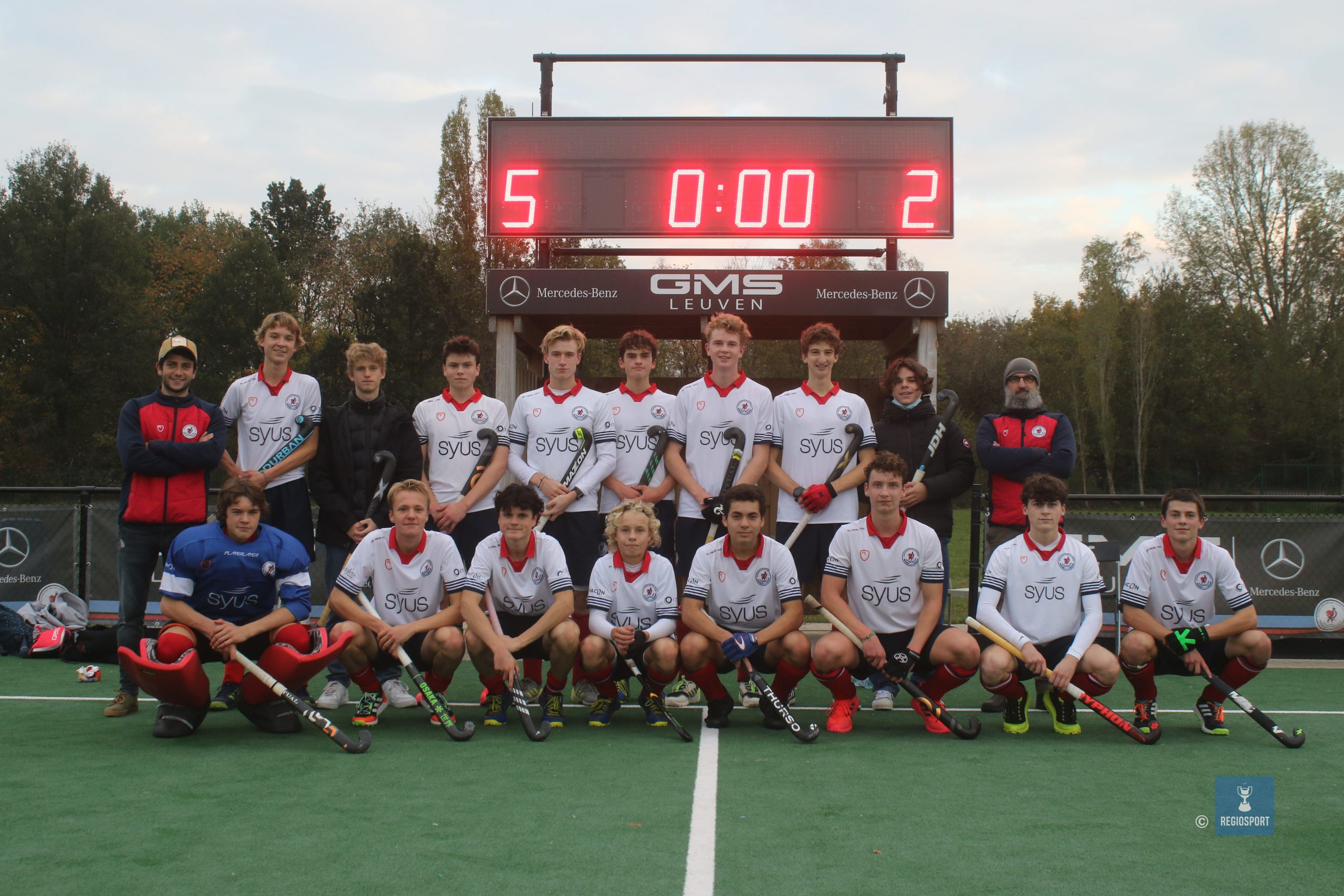 U19 boys KHC Leuven aan de leiding
