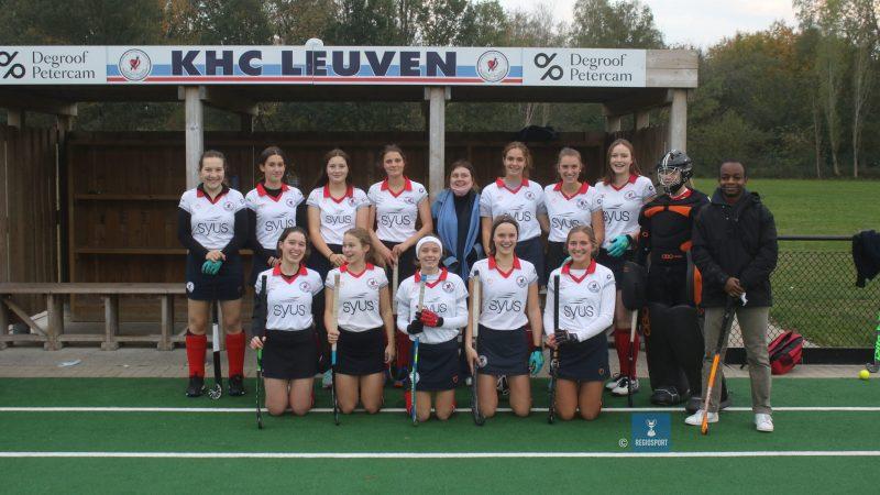 U19 girls 3 KHC Leuven bezetten de tweede plaats