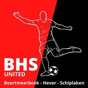 Het nieuwe logo van Boortmeerbeek-Hever-Schiplaken United