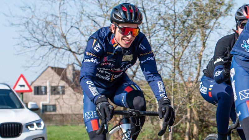 Sportieve duizendpoot Julien Desmarets vertoont grote ambities bij het Aarschotse Stageco Cycling Team