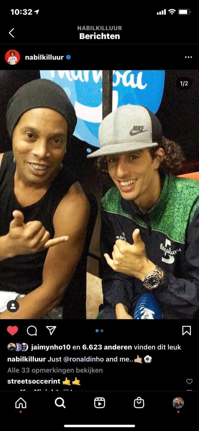 Aakazoun is ook geen onbekende voor Ronaldinho