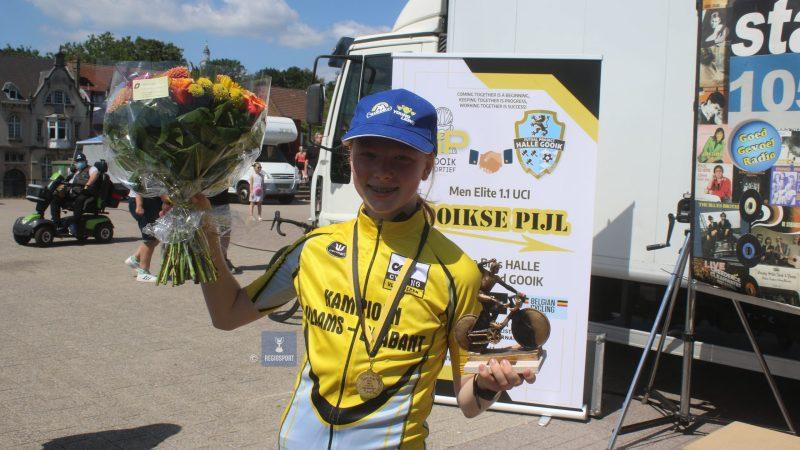 Twaalfjarige aspirante Lobke Spinnoy kroont zich tot provinciaal kampioene