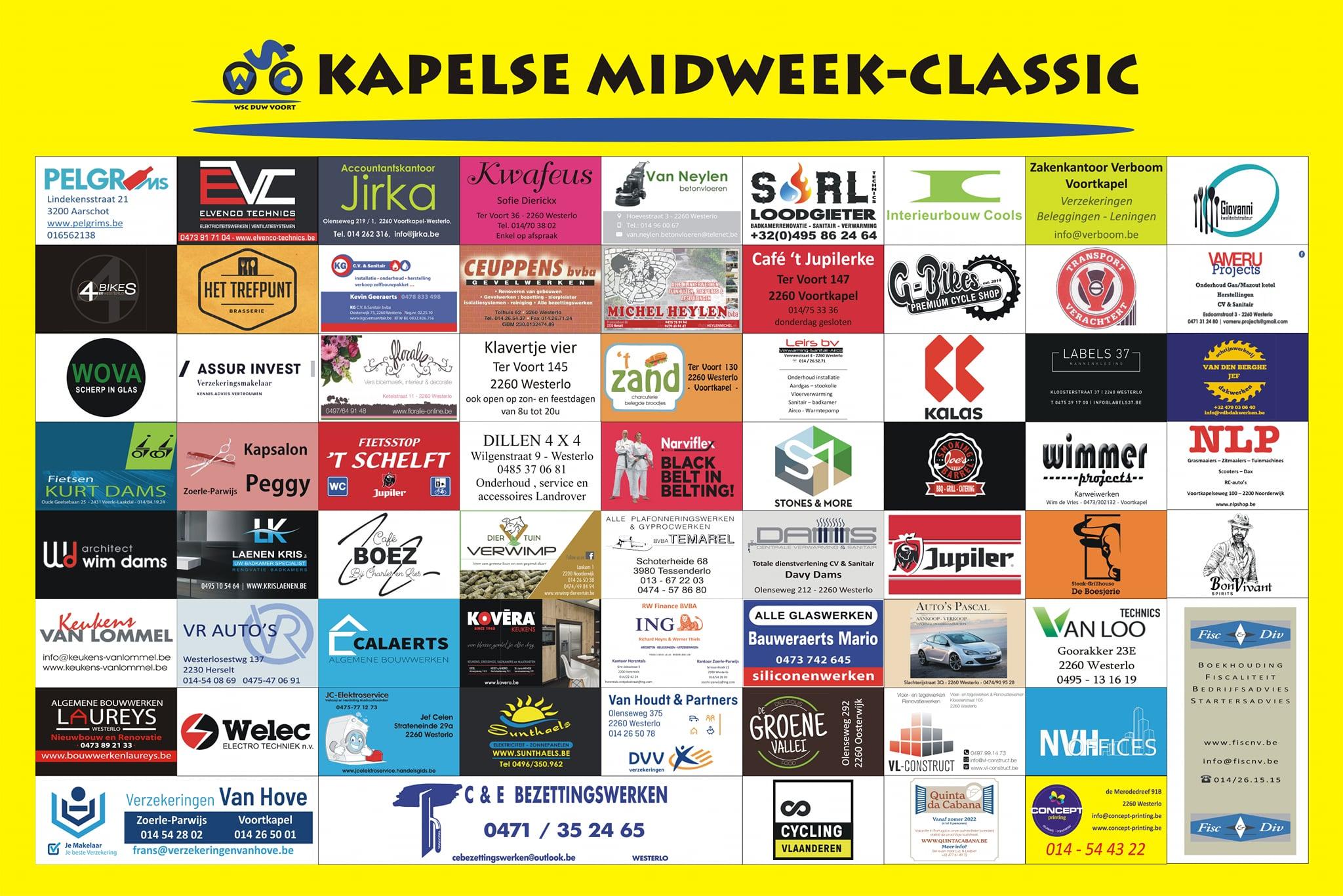 Deze donderdag Kapelse Midweek-Classic voor nieuwelingen en juniores in Voortkapel-Westerlo!
