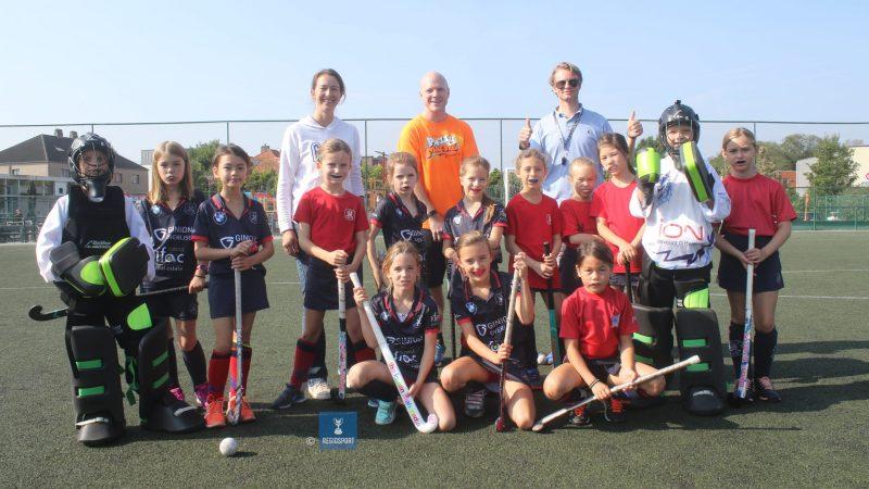 U9 girls 2 en U9 girls 3 Blue Lions Tervuren spelen leuke derby!
