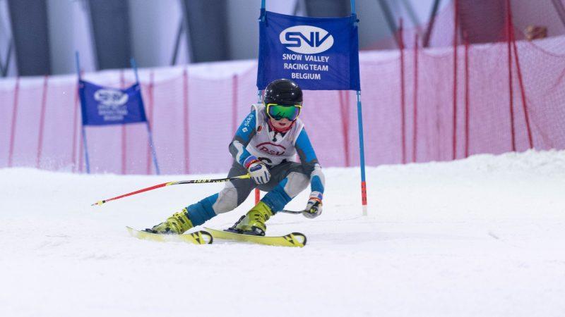 Ferre Baiverlin (11) vice-kampioen van België indoor ski bij de U14