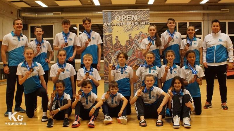 Taekwondo Keumgang kaapt 14 gouden medailles weg op internationale wedstrijd in Brussel
