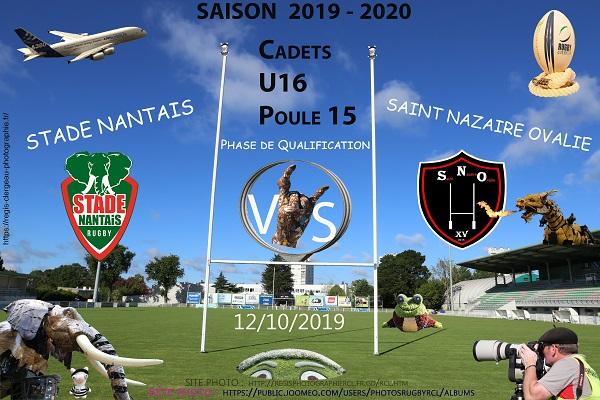 12-10-18 U16 Stade Nantais – Saint Nazaire Ovalie N°1 Pica