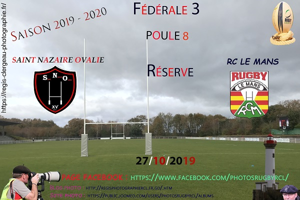 27-10-19 F3 Saint Nazaire Ovalie – Rugby Club Le Mans N°1 Pica