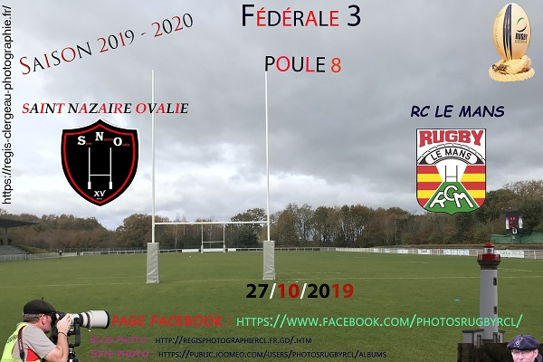 27-10-19 F3 Saint Nazaire Ovalie – Rugby Club Le Mans N°11 Pica