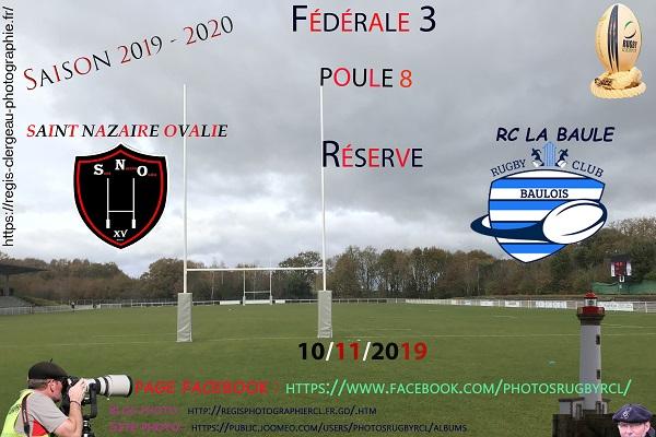 10-11-19 F3 Réserve Rugby Club La Baule – Saint Nazaire Ovalie N° 3 Pica