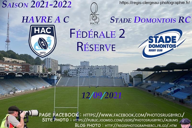 12-09-21 F2B Réserve Havre AC – Stade Domontois RC N°5 Pica
