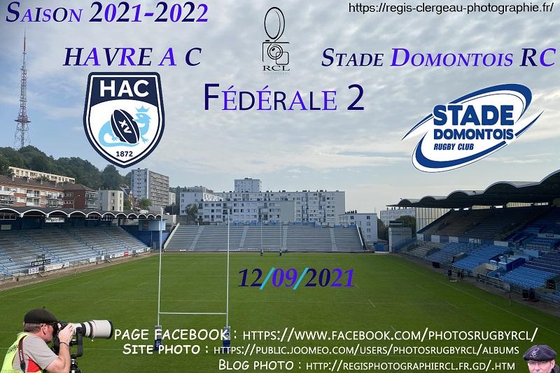 12-09-21 F2 Havre AC – Stade Domontois RC N°9 Pica