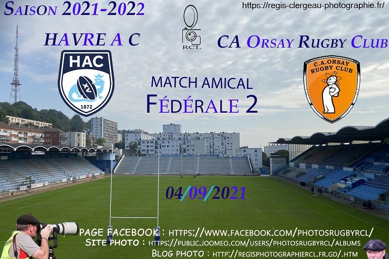 04-09-21 F2 Amical Havre AC – CA Orsay Rugby Club N°6 Pica