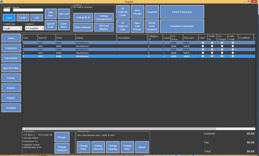 A darker register design option