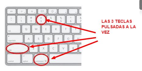 como fazer um print screen da tela no mac