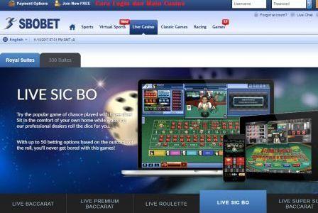 Cara Login dan Bermain Casino