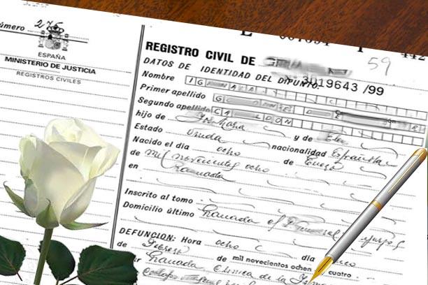 certificado de defuncion barcelona