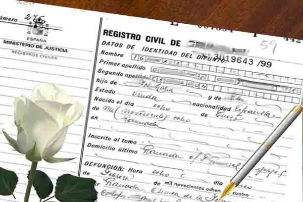 certificado de defuncion en madrid