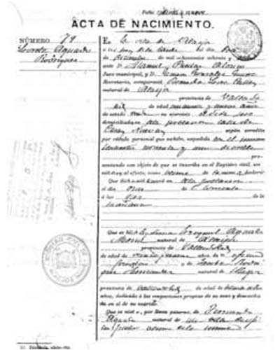 certificado de nacimiento Valladolid