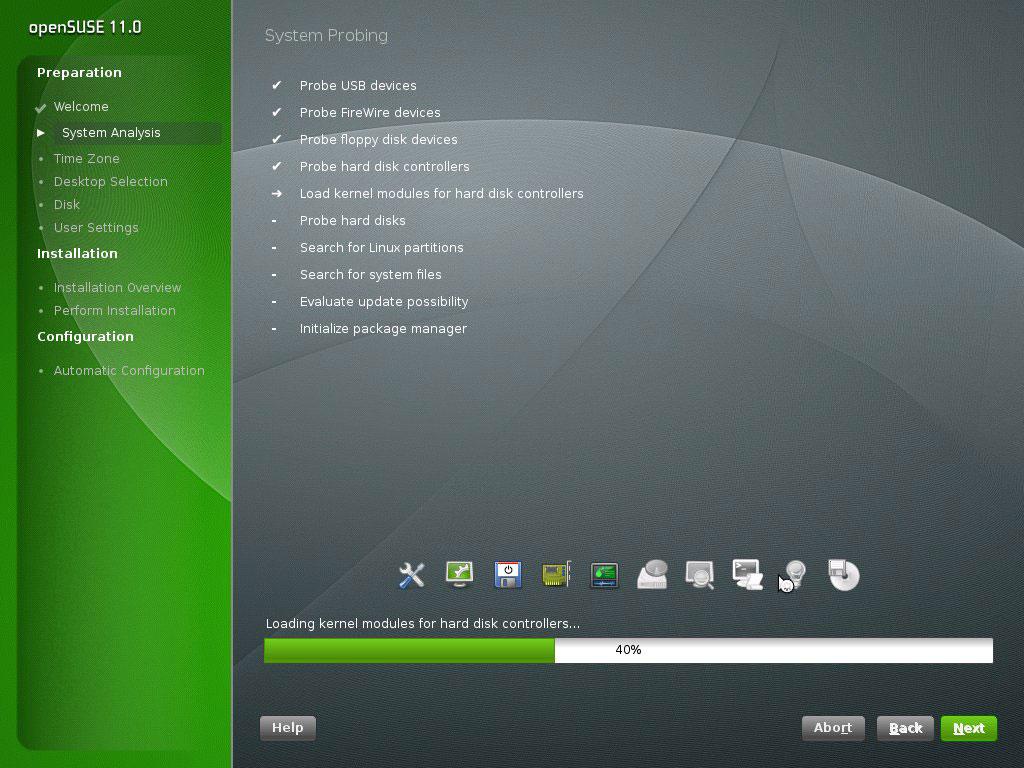 installer OpenSUSE