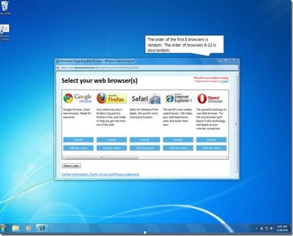 Windows browser choice screen