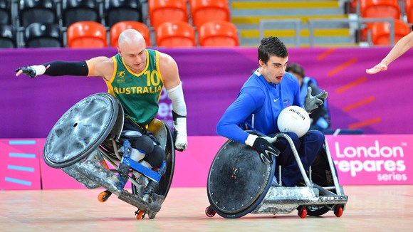 Paralympian rugby players