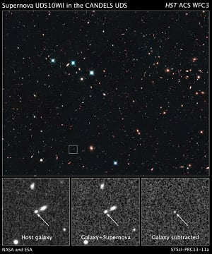 Hubble view of supernova SN Wilson