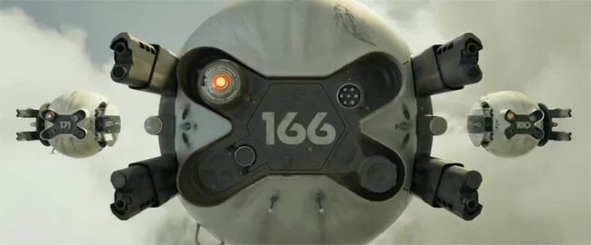 Open the pod bay doors Hal! Oblivion Drones kill humans but not Jack, cause he's a clone.
