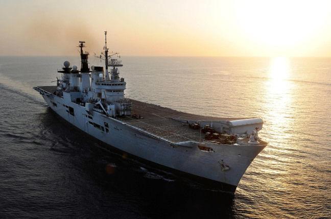 HMS Illustrious. Crown copyright/MoD
