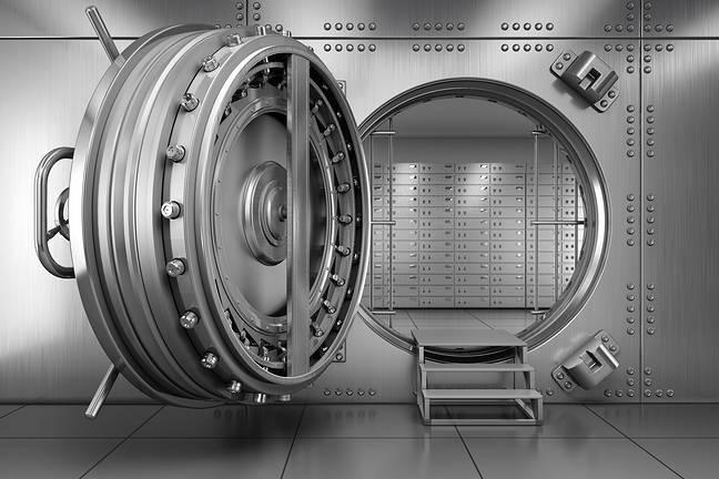 DOor to a bank vault. Photo by Shutterstock