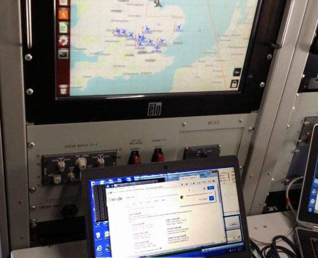 Googling Flight Radar 24 to track our own flight while at 20,000ft